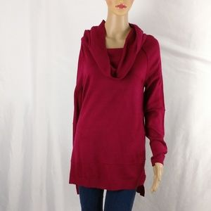 89TH & Madison cowl neck sweater small red